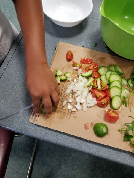 Lesson 4 Chopping Up Ingredients of Tabbouleh(4)